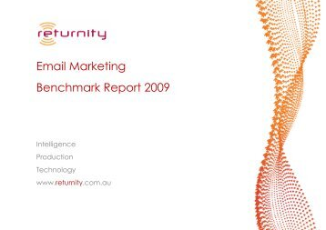 Email Marketing Benchmark Report 2009 - How good would it be if ...