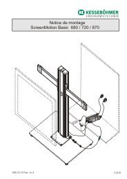 ScreenMotion Basic 680 / 720 / 870 Notice de montage - Lmc