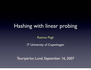 Hashing with linear probing