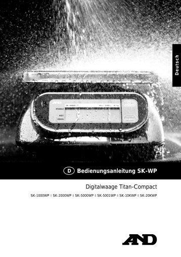 Digitalwaage Titan-Compact Bedienungsanleitung SK-WP
