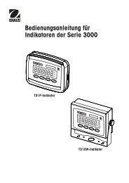 Bedienungsanleitung für Indikatoren der Serie 3000