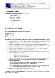 Plattformwaage Adam CPWplus: Bidirektionale serielle Schnittstelle ...