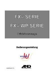 A&D FX-i / FX-iWP: Bedienungsanleitung