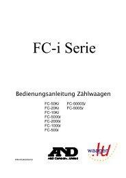 Zählwaage / Zählsystem A&D FC-i - Bedienungsanleitung