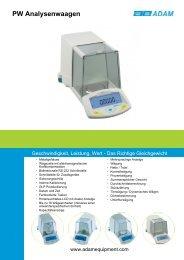 Adam Equipment Product Brochure - Smartlux SARL