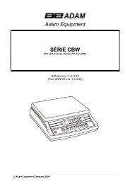 Adam Equipment SÉRIE CBW - Index of