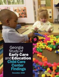 Georgia Study of Early Care and Education: Child - Bright from the ...