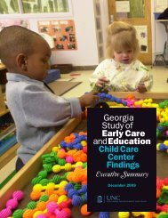 Child Care Center Findings - Bright from the Start