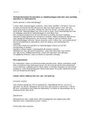 Patientinformation för operation av nässkiljeväggen med eller utan ...