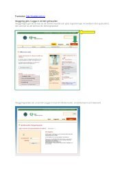Frontsidan: http://kvalitet.onh.nu Inloggning görs i Logga in vid den ...