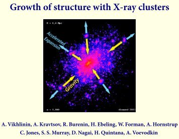 Growth of structure with X-ray clusters - Berkeley Cosmology Group