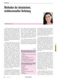 Methoden der intrauterinen, nichthormonellen Verhütung
