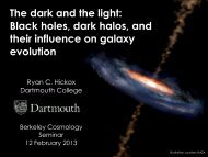 The dark and the light: Black holes, dark halos, and their influence ...
