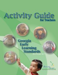 The Georgia Early Learning Standards Activity Guides may - gapitc