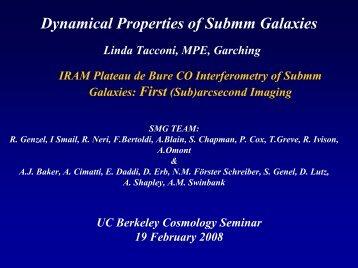 The Dynamical Properties of Submm Galaxies - Berkeley ...