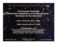 The Coyote Universe: Precision Simulations of the Large Scale ...
