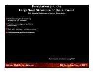 Percolation and the Large Scale Structure of the Universe - Berkeley ...