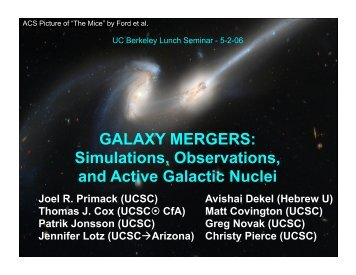 Galaxy Mergers Seminar - Berkeley Cosmology Group