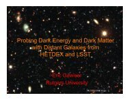 Probing Dark Energy and Dark Matter with Distant Galaxies from ...
