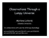 Observations Through a Lumpy Universe