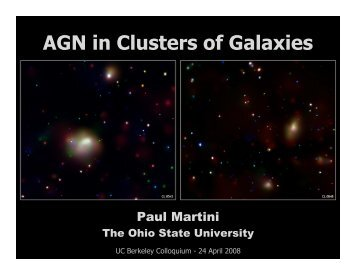 AGN in Clusters of Galaxies - Berkeley Cosmology Group