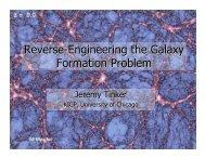 Reverse-Engineering Galaxy Formation - Berkeley Cosmology Group