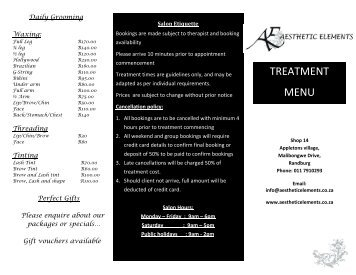Aesthetic Elements-07-06-2013-Pricelist.pdf - Health Spas Guide