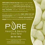 to download our brochure - Pure Health & Beauty