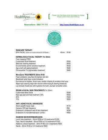 SKINCARE THERAPY 40min R180 DERMALOGICA FACIAL ...