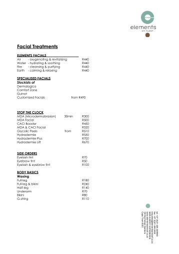 Facial Treatments - Health Spas Guide