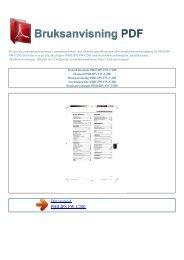 Instruktionsbok PHILIPS FW-C280 - BRUKSANVISNING PDF
