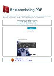 Instruktionsbok BLAUPUNKT SEVILLA MP38 - BRUKSANVISNING ...