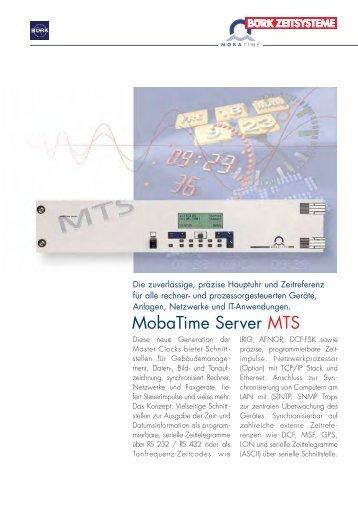 MobaTime Server MTS - Bürk Zeitsysteme