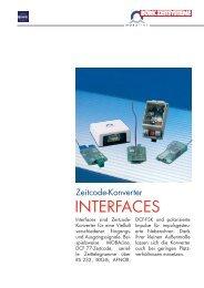 Zeitcode-Konverter INTERFACES - Bürk Zeitsysteme