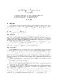 Algorithmique et Programmation Compression - imagine - Enpc