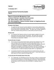 Cabinet 12 October 2011 County Durham Partnership Update ...