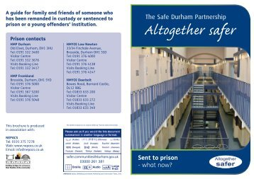 Sent to prison - Durham County Council