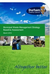 Municipal Waste Management Strategy for County Durham