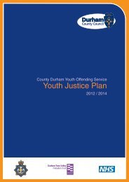 Youth Justice Plan (12-14) - Durham County Council