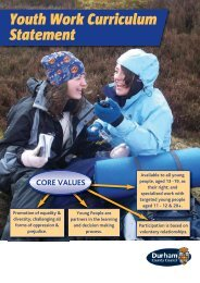 Youth Work Curriculum Statement.pdf - Durham County Council