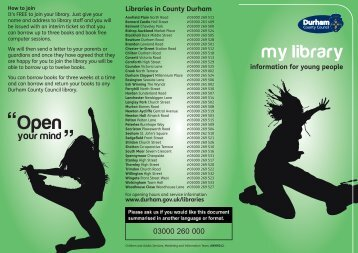 My library - information for young people.pdf - Durham County Council