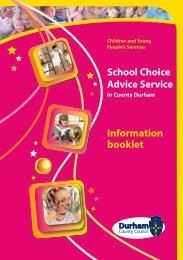 School Choice Advice Service - Durham County Council