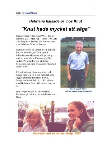 """""""Knut hade mycket att säga"""" - Glocalnet"""