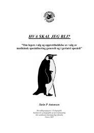 HVA SKAL JEG BLI? - Munin - Universitetet i Tromsø