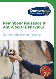 Neighbourhood Nuisance and ASB Leaflet .pdf - Durham County ...