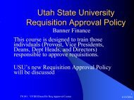 Requisition Approval Policy - USU Department of IT - Utah State ...