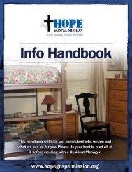 Info Handbook - Hope Gospel Mission