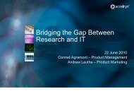Bridging the Gap Between Research and IT - Accelrys