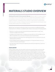 Materials Studio Overview Datasheet - Accelrys