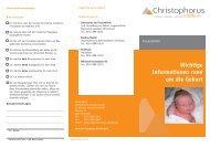 Wichtige Informationen rund um die Geburt - Christophorus-Kliniken ...